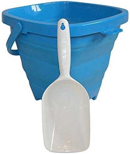 diseños exclusivos AquaVault Packable Pails. Collapsible Collapsible Collapsible Beach Bucket with Shovel- Aqua azul by Packable Pails  tienda de venta