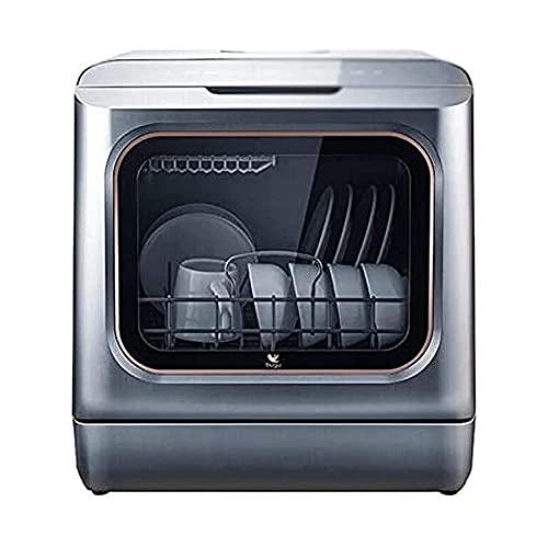 MOSHUO Vollautomatische Tisch-Spülmaschine, Küche, Esszimmer, 1200 W Leistung, 3 l Wasser, 7-stufige 360-Grad-Einstellung auf Knopfdruck