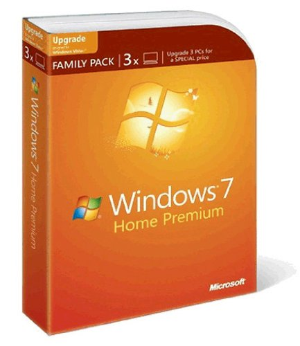 Windows 7 Home Premium Upgrade Family Pack (3 Lizenzen)