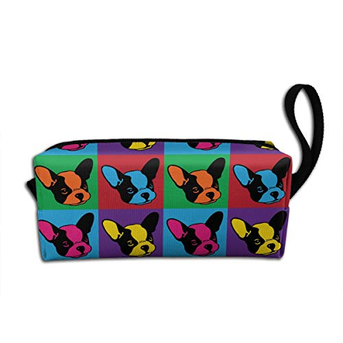 Vintage French Bulldog Dog Makeup Bag Adorable Travel Cosmetic Pouch Toiletry Organizer Case Gift for Women