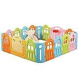 XHCP Valla de Seguridad, Parque Infantil, Piscina de Bolas para niños en plástico para protección del Medio Ambiente, Parque Infantil para niños Durante 6 Meses o más, barandilla casera (Color: v