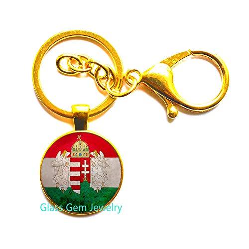 Hungary Jewelry Budapest, Schlüsselanhänger mit Flagge, Ungarn, Schlüsselanhänger, Schlüsselanhänger, Q0277