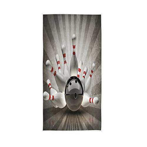 Mnsruu Bowling Ball Crashing Vintage Soft Bad Hotel Spa Hand Gym Sport Handtuch 76 x 38 cm