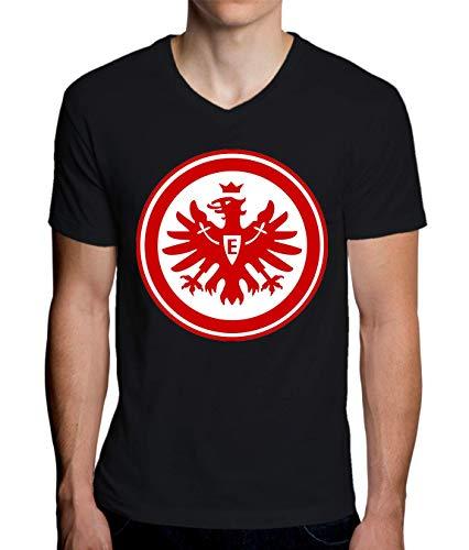 ShutUp Co. Eintracht Frankfurt Camiseta con Cuello de Pico para Hombre