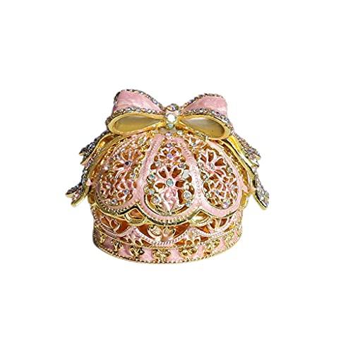 Almacenamiento de joyas Oganizer Caja de almacenamiento de joyas de corona japonesa, caja de estanque europeo caja de acento de caja de joyería, caja de regalo de caja de anillo de propuesta de boda P