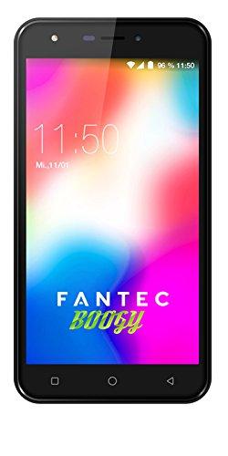 FANTEC Boogy Smartphone 13,97 cm (5,5 Zoll) HD Bildschirm (Dual SIM, Android 7, 8MP Kamera 5MP Frontkamera, 16GB & 1GB Speicher) schwarz