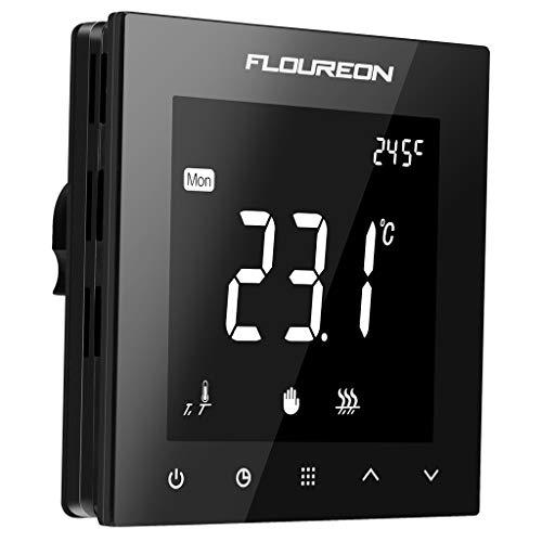 Thermostat Heizung Raumthermostat digitaler Wandthermostat programmierbar Raumtemperaturregler für elektrische Fussbodenheizung Wandheizung mit großer LCD-Bildschirm 230V 16A