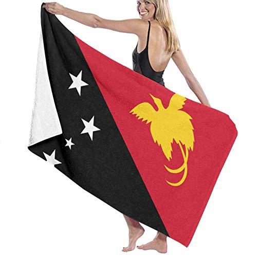 LREFON Bandera de Papúa Nueva Guinea Toallas de baño Moda Toalla de Ducha de Secado rápido Personalidad Toalla de natación de Playa Suave (31.5X51.2 Pulgadas)
