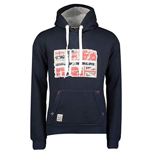 GEO NORWAY GPEPE - Sudadera cálida para hombre, de alta calidad, con capucha, manga larga, diseño deportivo marine XL