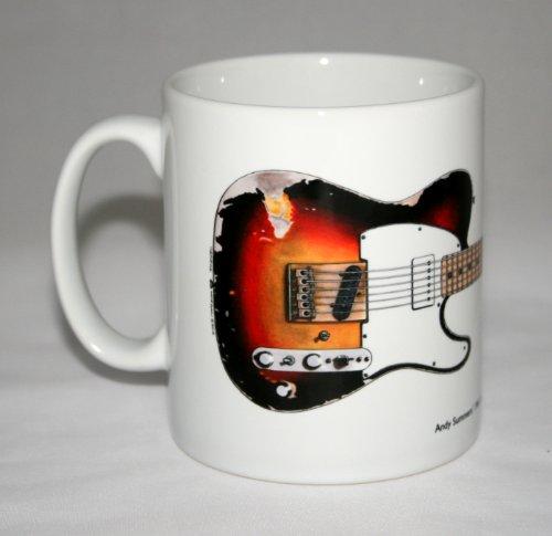 Gitarre-Becher. Andy Summers' Fender Telecaster Abbildung.