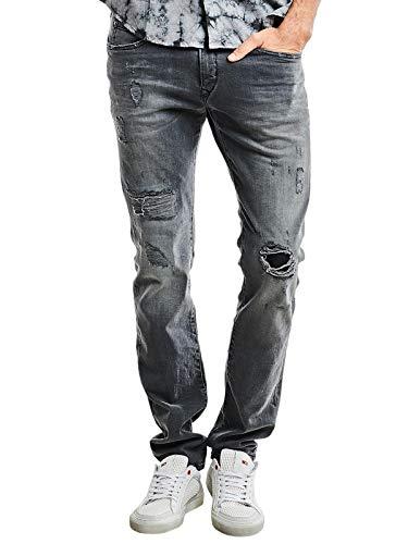 emilio adani Herren Jeans mit Destroy Effekten, 26039, Grau in Größe 31/34