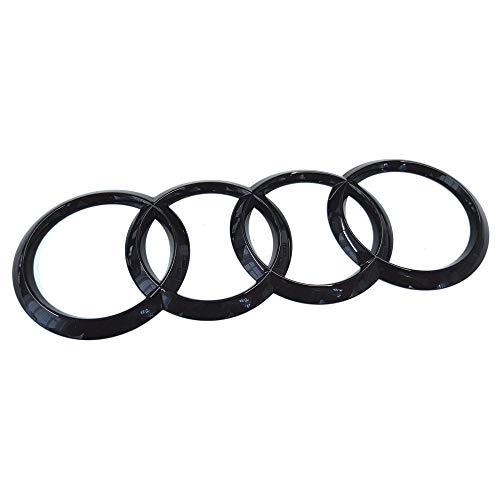 Audi 80A853742AT94 Ringe Emblem Logo Aufkleber Blackline Black Edition, schwarz glänzend