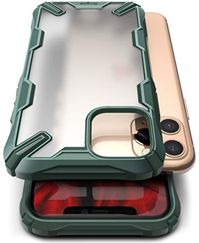 Ringke Fusion-X No-Smudge Matte Progettato per Cover iPhone 11 PRO Max, Custodia iPhone XI PRO Max No-Smudge Case (2019) - Dark Green