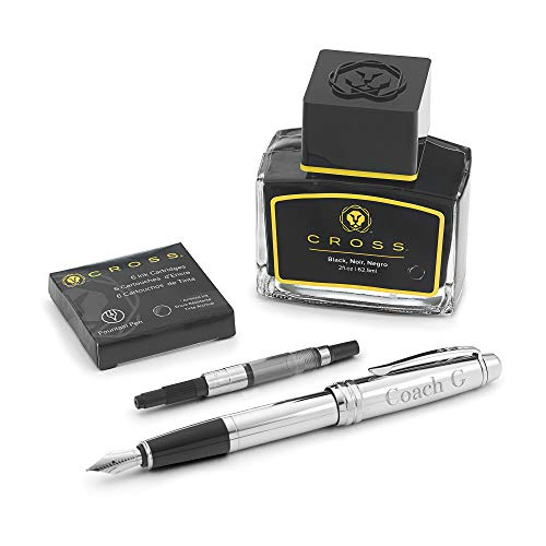 Personalized Cross Bailey Fountain Pen Gift Set with Engraving Included