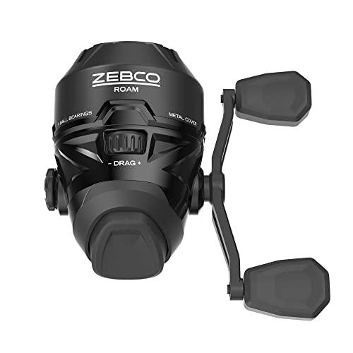 Zebco / Quantum, Roam Spincast Reel, 3.6:1 Gear Ratio, 19' Retrieve Rate, 3 Bearings, Ambidextrous, Clam Package, Black (ROAM3BK.CP3)