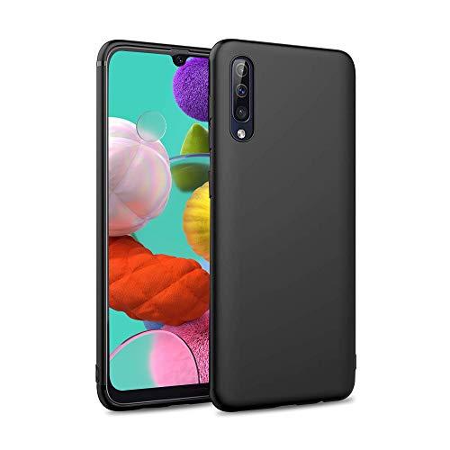 Coque pour Samsung Galaxy A50 Noir Silicone TPU Souple Housse, Anti-Rayures Protection Matte Black Case Cover pour Samsung Galaxy A50 - Noir