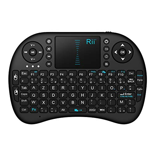 Rii Mini i8 Wireless (AZERTY) - Mini Clavier français, Ergonomique sans Fil avec Touchpad