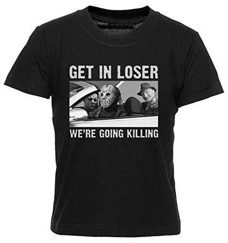 Get In Loser Camiseta Nio Nia Nios Negra T-Shirt Boys Girls Kids Black