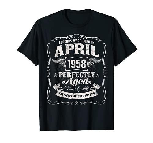 Las Leyendas Nacieron En Abril de 1958 Clásico 64 Cumpleaños Camiseta
