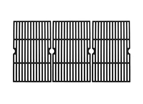 SafBbcue Cast Iron Cooking Grid Replacement for Select Gas Grill Models by Charbroil, Kenmore and Others, Set of 3, Fits Master Chef: 85-3100-2, 85-3101-0, Charbroil 4362436214, 463420507, Backyard