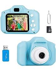 Jooheli Appareil photo numérique pour enfants - Écran HD de 2 pouces - 1080P - Avec carte TF de 32 Go - Jouet pour garçons et filles de 3 à 12 ans