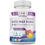 Pure Premium Keto Diet Pills - Ketosis Supplement to Burn Fat Fast - Aids Appetite Suppression, Enhances Metabolism, Increases Energy - for Women & Men - 60 Capsules