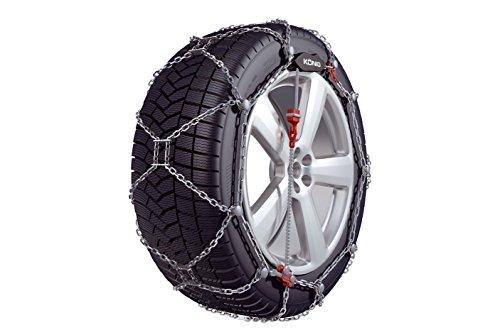 BB-EP KÖNIG Schneeketten - DIE FEINGLIEDRIGE 12mm Schneekette - Freigegeben für FIAT Ducato (2014) mit der Reifengröße 225/75 R16 im Set mit hochwertigen Handschuhen