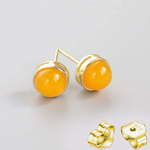 Golden Store US - Max 80% OFF Indefinitely 925 Silver Stud Earring Natural Stone Gold Pin