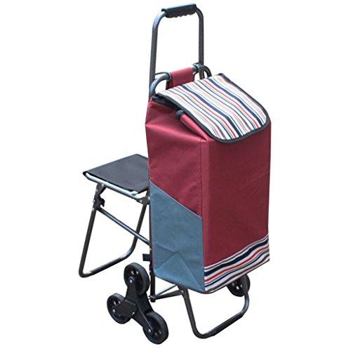 AICN_Rollwagen Hand-LKW/kletternde Treppe-Einkaufswagen/faltender Einkaufswagen/tragbarer Zug-Wagen/Handanhänger/Zugstangen-Auto/mit Schemel kann Sitzen/Schemel Gewicht 100 Kilogramm/R