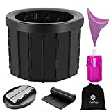 Portable Folding Toilet, Camping Toilet for Travel, Commode Porta Potty Car Toilet, Portable Travel Toilet for Adults, Bucket Toilet Seat for Camping, Hiking, Long Trips, Traffic Jam, Elderly