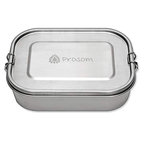 Prosom Edelstahl Lunchbox für Kinder und Erwachsene | große Brotdose 1400 ml | Vesperdose für Kinder | Bento Box auslaufsicher & dicht Brotbox zum Wandern, Reisen, Schule, Kindergarten