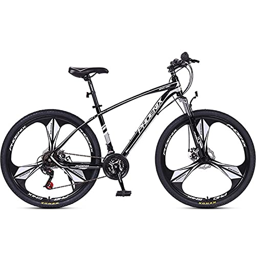 QIU Bicicletas de montaña HYX1 26 Pulgadas 3 Ruedas DEPLOZO 21 Velocidad Bicicleta DE MONTAÑA Dual Dual DE Disco Bicicleta (Color : White, Size : 26')