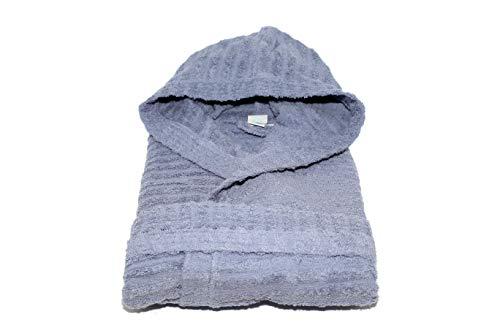 Sally Jacquard Horizon/Líneas albornoz con capucha, bolsillos y cinturón