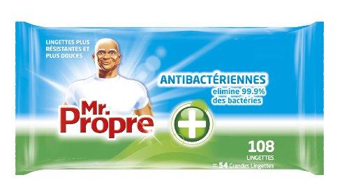 Mr. Propre - Lingettes Nettoyantes Multi-Usages Antibactériennes x 108 - Lot de 3