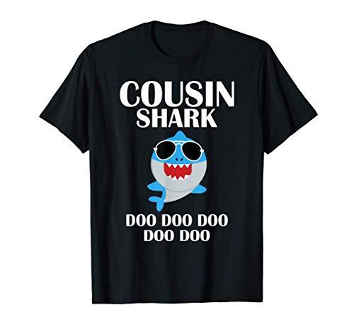 Cousin Shark T-Shirt Doo Doo Doo Funny Cousin Christmas T-Shirt