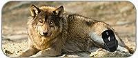 XXL大型マウスマットアニマル横たわる狼XXL拡張マットデスクパッド