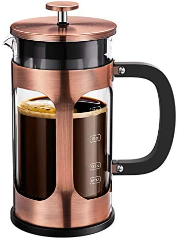 BAYKA French Press Coffee Tea Maker 304 Stainless Steel Coffee Press with 4 Level Filtration product image