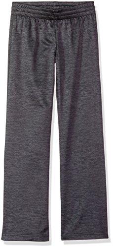 Hanes Big Tech - Pantalón de Forro Polar para niña, Jaspeado (Stealth Heather), Medium