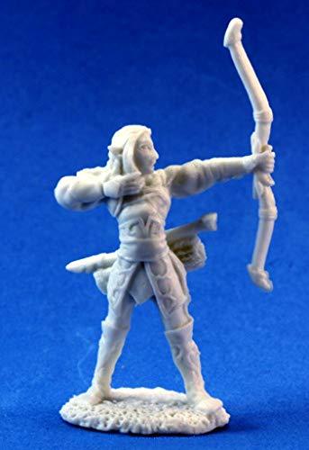 1 x LINDIR ELF Archer - Reaper Bones Figurine pour Jeux de Roles Plateau - 77021