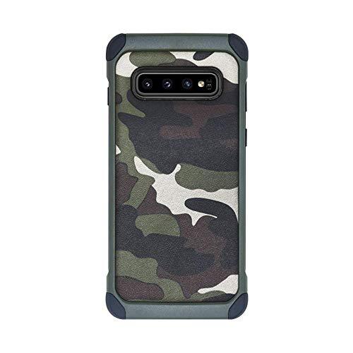 kkkie Hülle kompatibel Galaxy S10 / S10 Plus, TPU + Hart PC 2-in-1 Military Tarnmuster Camouflage Hülle 360-Grad Stoßfest Schutzhülle Handyhülle kompatibel Galaxy S10e (Grün, Galaxy S10)