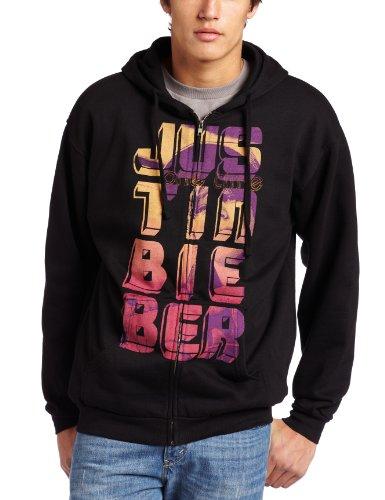 Bravado Herren Kapuzenpullover Justin Bieber Stripes Zip Up Hoodie - Schwarz - Mittel