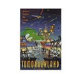GAOZI Disney World Tomorrowland Poster auf Leinwand,