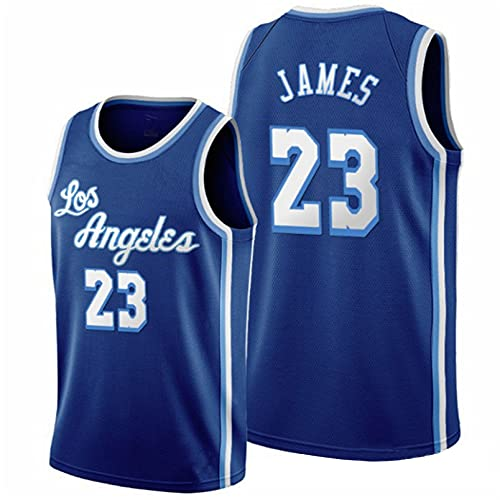 TINKOU Camiseta Baloncesto Hombre NBA Lakers # 23 Camiseta Sin Mangas Baloncesto Ropa Deportiva Transpirable Chaleco Entrenamiento Juvenil Clásico