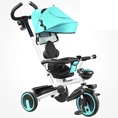 For Sale! YUMEIGE Kids' Tricycles Kids Tricycle Kids Pedal Bicycle with parasols 1-6 Years Old Load Weight 25kg Baby Carriage Boys Girls Toy Car (Color : Blue)