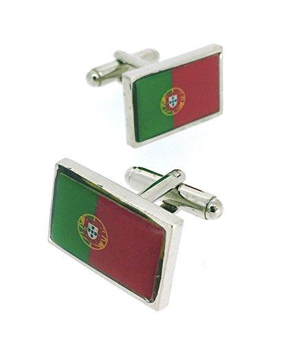 Gemelolandia   Gemelos para Camisa de Bandera de Portugal Gemelos Originales Para Camisas   Para Hombres y Niños   Regalos Para Bodas, Comuniones, Bautizos y Otros Eventos