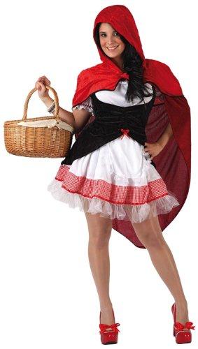 Atosa- Disfraz Caperucita, Color rojo, XL (5947)