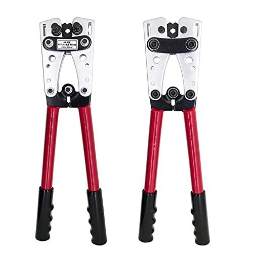 QPLKL Wire Strippe Crimpadora HX-50B Alicates engargando alicates engarzando alicates de engarzado por 6-50mm2 1-1 0AWG Cable Herramienta Que Prensa (Color : HX-50B Red)