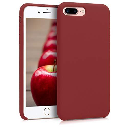 kwmobile Cover Compatibile con Apple iPhone 7 Plus / 8 Plus - Custodia in Silicone TPU - Back Case Protezione Cellulare Rosso Scuro