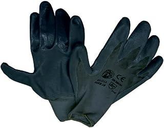 Guantes de nitrilo Negro Trabajo - Forro de nylon Tg 10 con