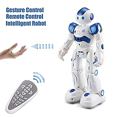 Wonderland Gifts Smart Robot Toys Gesture Control Remote Control Robot JJRC Robot Gift for Boys Girls Kid's Companion:Game Fun Learning Music Dance Etc.Rechargeable Rc Robot Kit